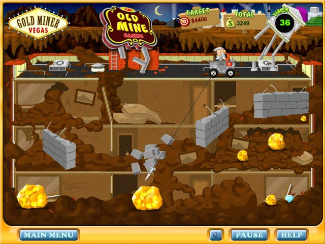 Gold Miner Vegas Game (Fullscreen) @ PlayItOnTheWeb.com